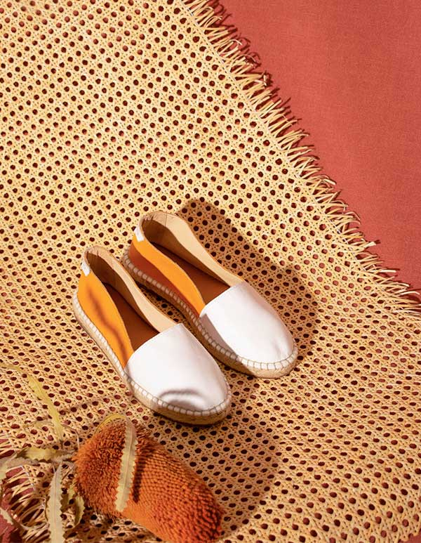 Espadrilles Cuir Orange 1981