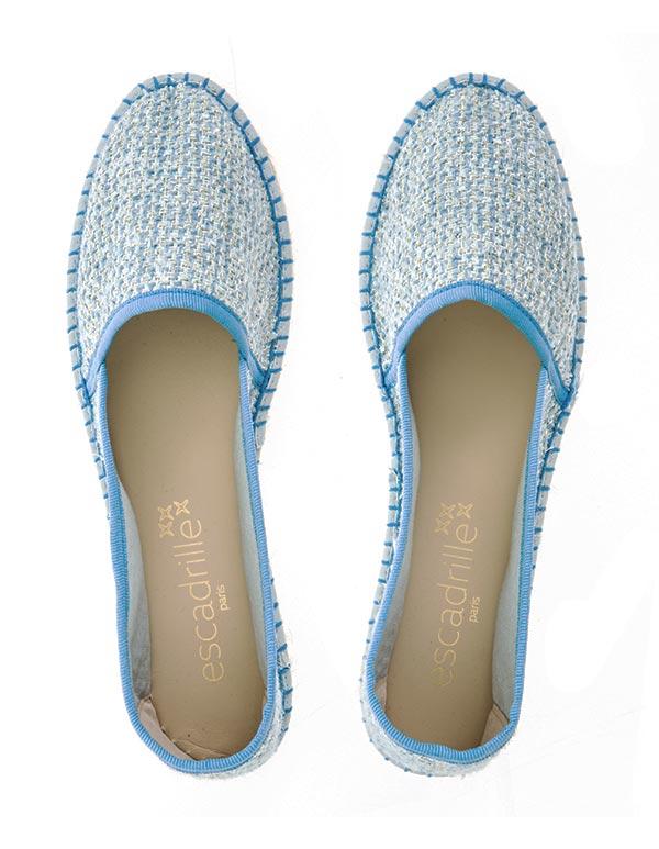 Espadrilles Tweed Bleu CABOURG