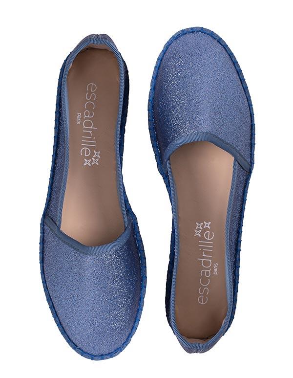 Espadrilles Paillettes Bleu TARIFA