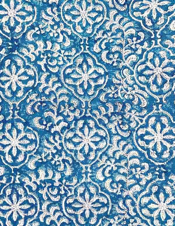 Espadrilles coton imprimé bleu écru PETITE TROUSSE JAIPUR 2