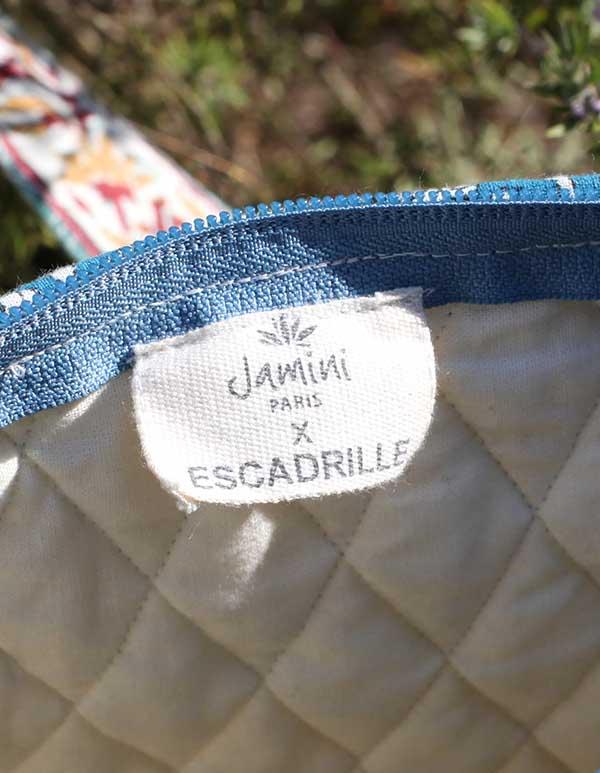 Espadrilles coton imprimé bleu écru SAC WEEK-END JAIPUR 5